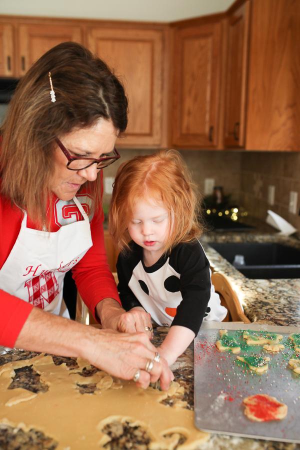 True Tot Tower | Baking Christmas Cookies